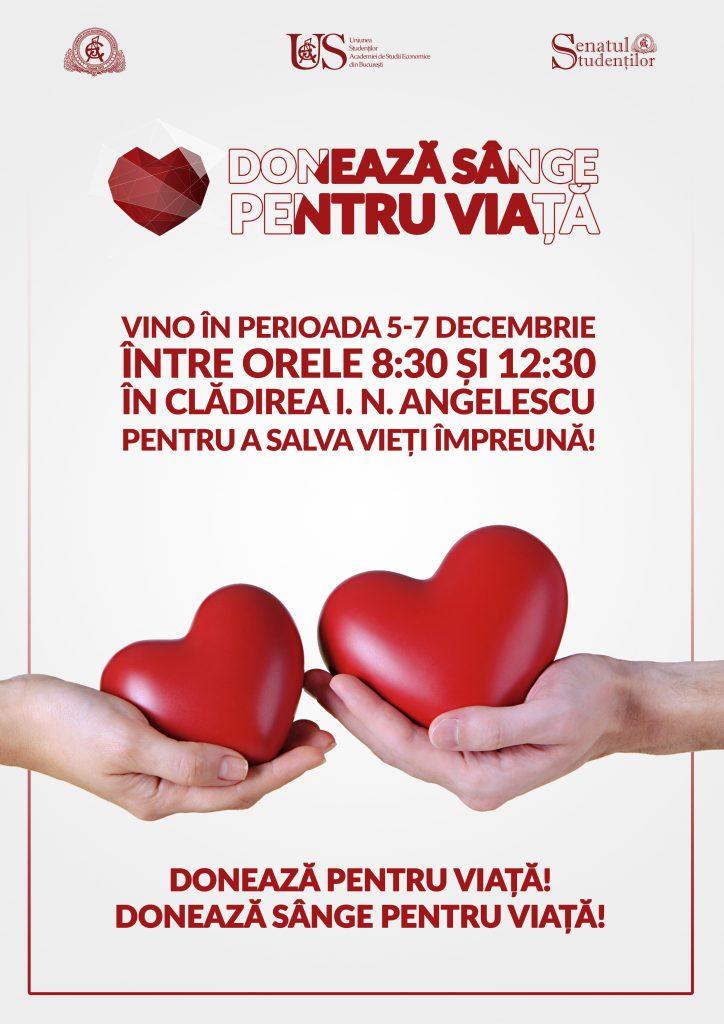 Donează Sânge pentru Viață Decembrie 2016