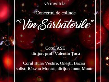 """Concertul de colinde """"Vin sărbătorile"""""""